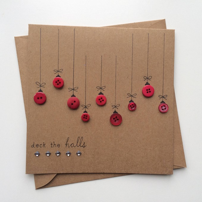 25 Cartões de Natal feitos á mão para copiar