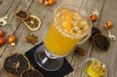 Orangenpunsch mit Honignüssen