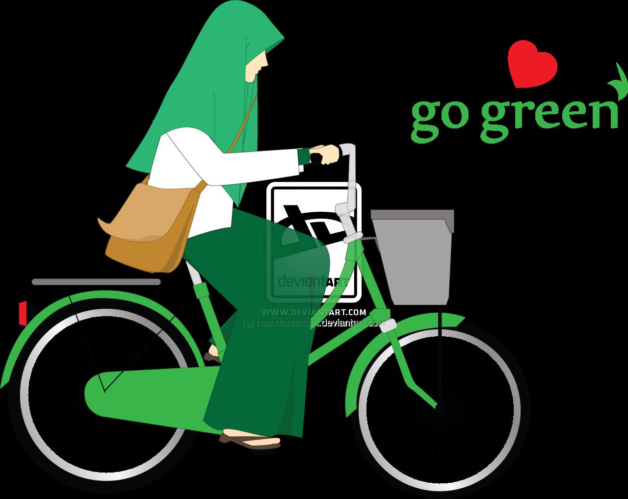 49 Gambar Kartun Muslim Naik Sepeda
