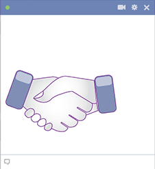 Hand Shake Facebook Sticker