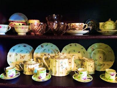 ecclectic tea set collection