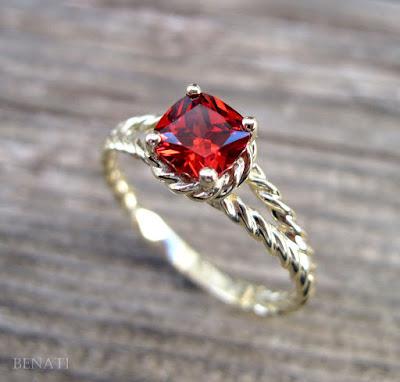 Nhẫn đá Ruby cao cấp