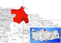 Durağan ilçesinin nerede olduğunu gösteren harita.