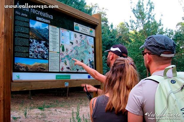 Paneles informativos en el Valle del Jerte