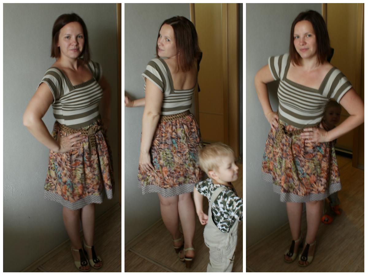 Сарафан из майки и юбки