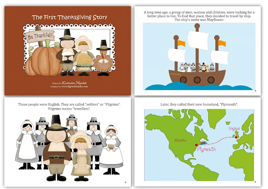 Thanksgiving Day Social Studies - History Pre-K and Kindergarten (Enriched with more art, math, and literacy!)