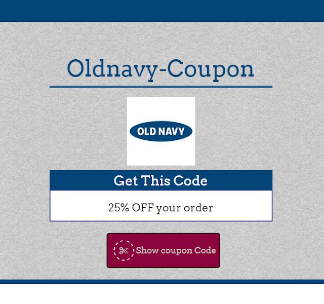 Oldnavy 35% Coupon Code May 2017