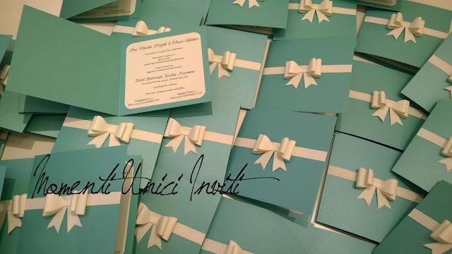 el2 Gli inviti Tiffany di Eliana e Pier ClaudioColore Bianco Colore Tiffany Fiocchi Partecipazioni intagliate