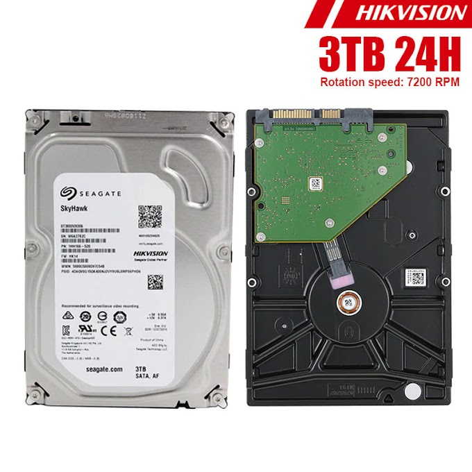 "HDD 3.5"" 24H Seagate Hikvision 3TB"