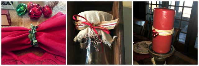 boxwoodwreath, bulap trim, copper snowflake, christmas decor