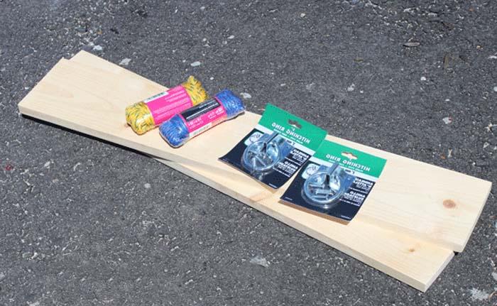 2 katlı askılı duvar rafı yapmak için malzemeler