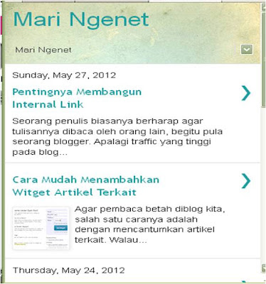 Tampilan mobile blogspot