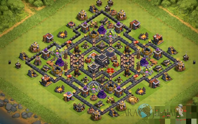Base Farming TH 9 COC Update Bomb Tower Terbaru 2017 Tipe 23