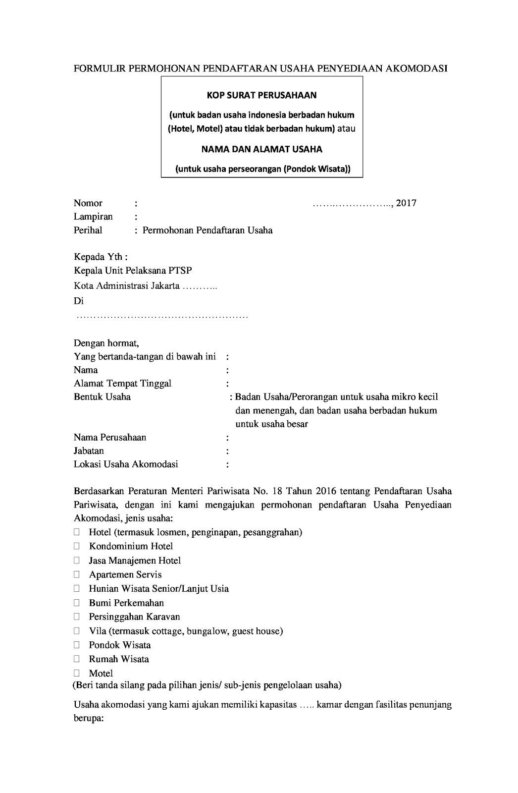 Pengantar Manajemen Dan Bisnis 313 Izin Tanda Daftar Hotel Bintang