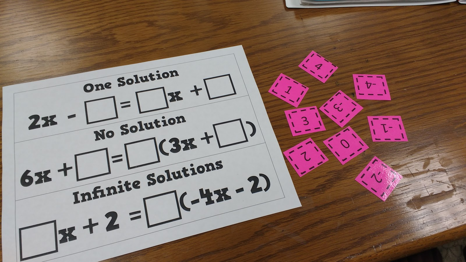 Math Love Open Middle Style Problem For Equations With