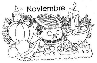 Docenteszona24 Dibujos Para Colorear Noviembre