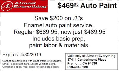 Coupon $469.95 Auto Paint Sale April 2019