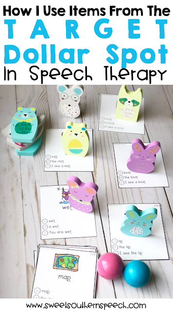 Using Target Dollar Spot Items in Speech Therapy