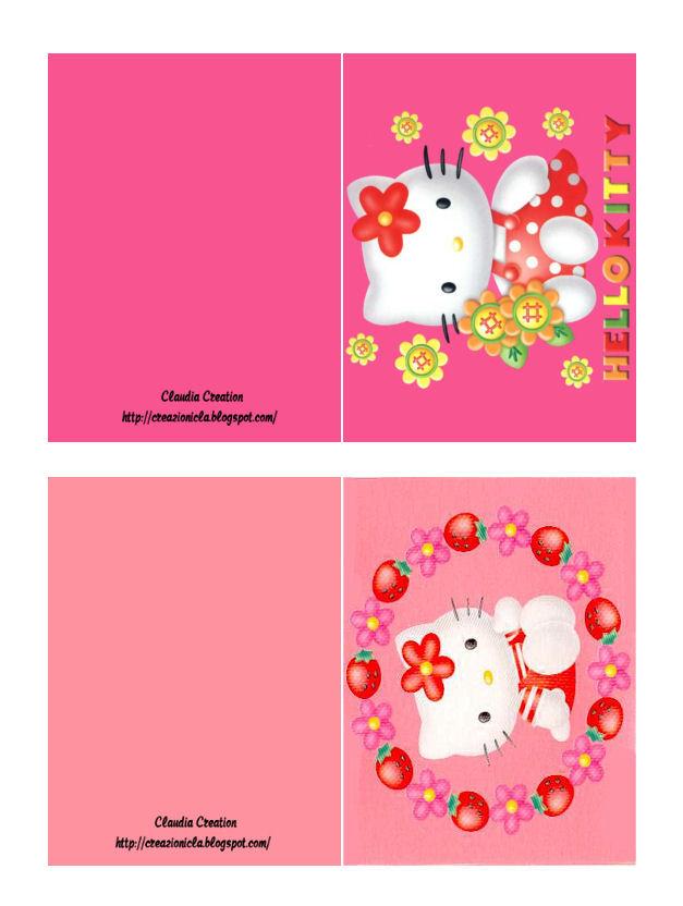 abbastanza il mio angolo creativo: Biglietti d'auguri Hello Kitty BP08