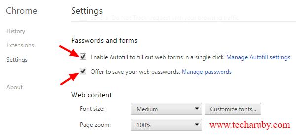 Password kaise save kare