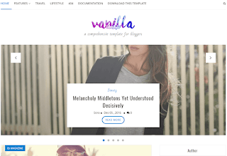 Vanilla Lifestyle Blogger Template Balrajg