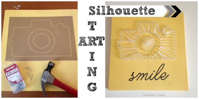 Silhouette Cameo, DIY, do it yourself, string art