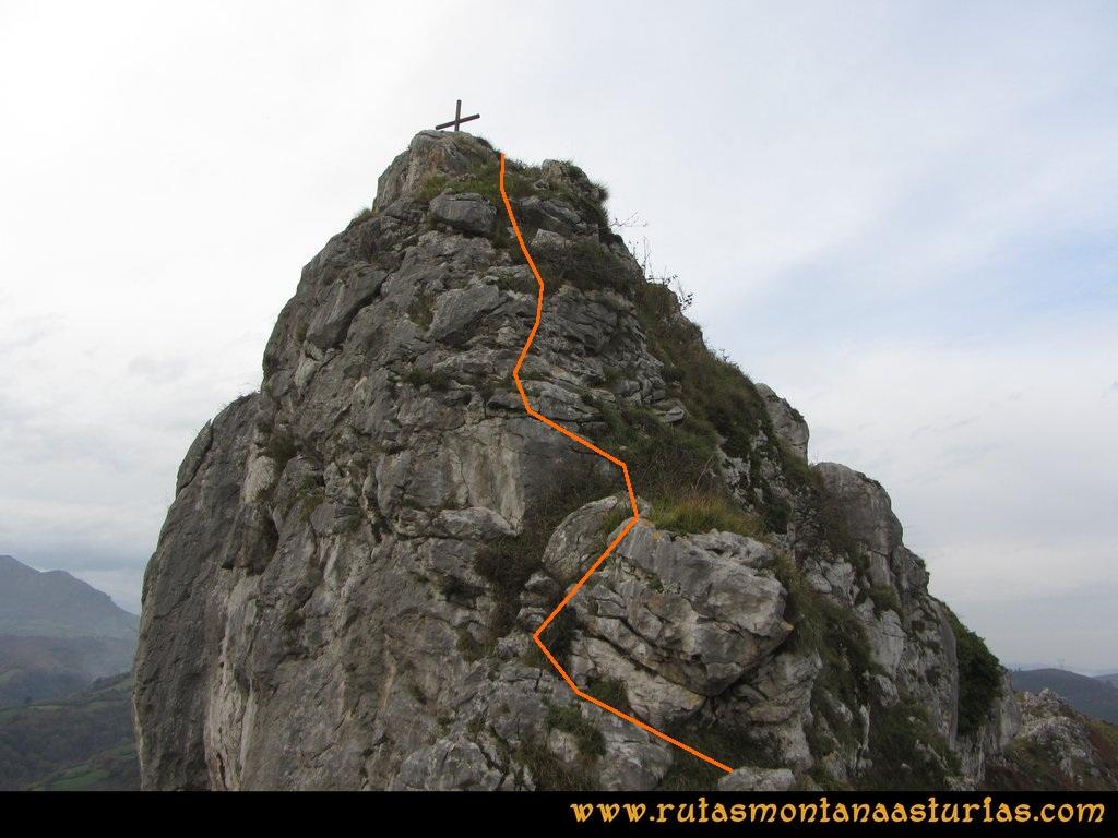 Ruta Baiña, Magarrón, Bustiello, Castiello. Trepada del Castiello