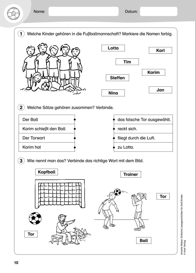 Ziemlich Einfache Sätze Für Kindergarten Arbeitsblatt Ideen ...