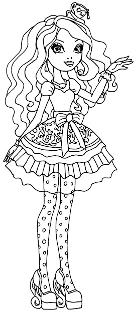 Coloring Page Of Madeline Hatter From Ever After High Madeline Hatter