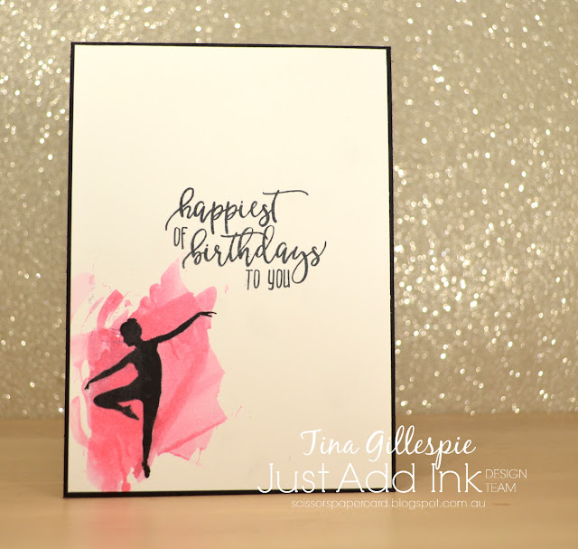 scissorspapercard, Stampin' Up!, Just Add Ink, Picture Perfect Birthday, Glimmer Paper, Smooshing