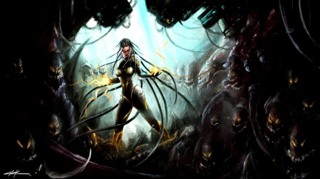 Dreamy Fantasy Starcraft Ii Heart Of The Swarm Lava Artwork