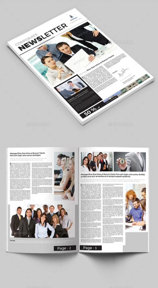 34. Business Newsletter Template