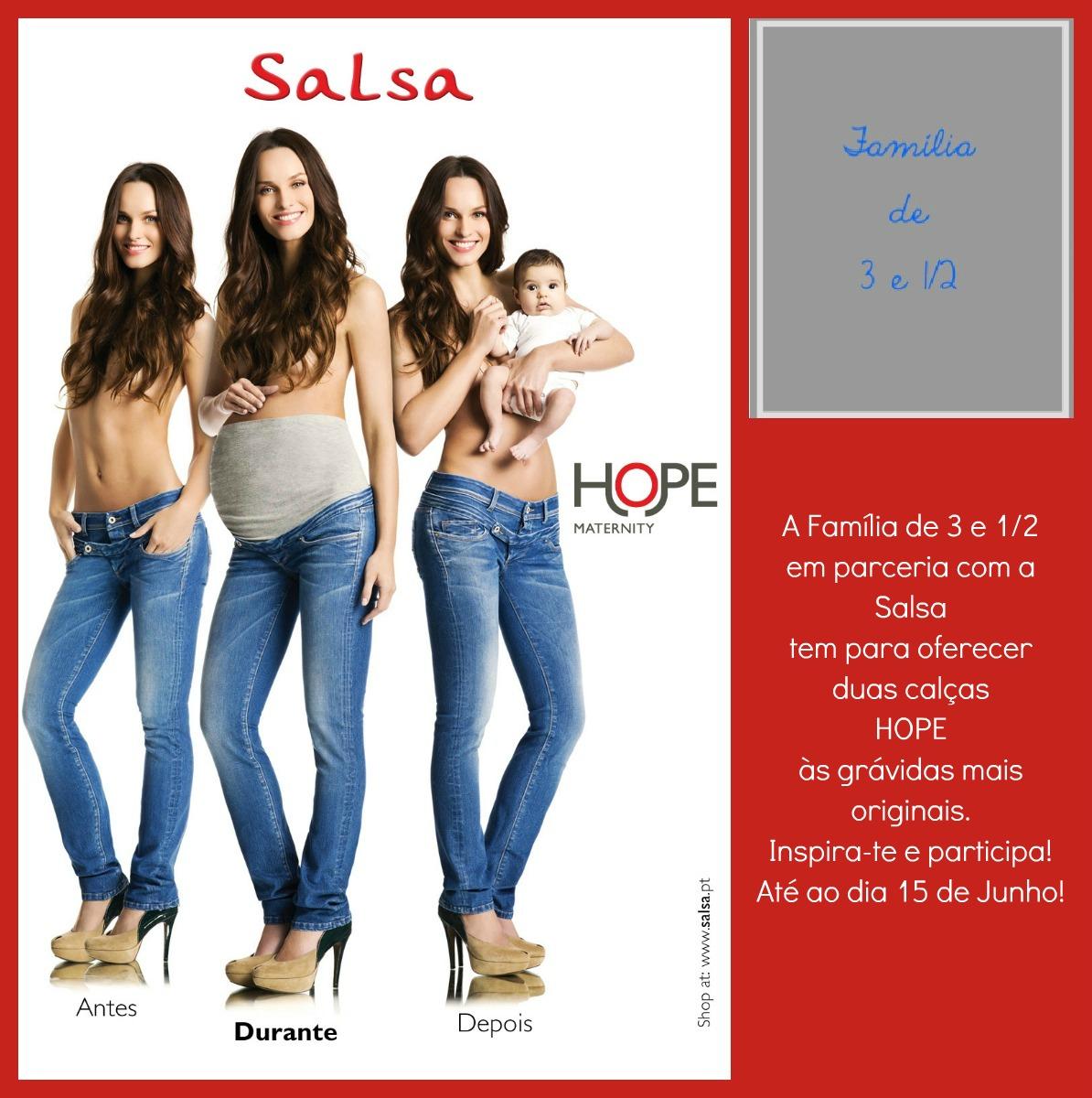 52e5b57d714f2 E para que as leitoras possam viver em pleno a sua gravidez e sentir o  conforto de umas HOPE, a Salsa tem para oferecer 2 jeans Hope.