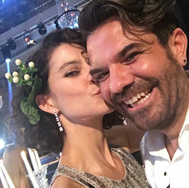 Beren Saat in a romantic shot with her husband