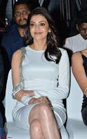 Beautiful Smiling Kajal Aggarwal in Creamy White Gown at MLA Telugu Movie Success Meet ~ .com Exclusive Pics 020.jpg