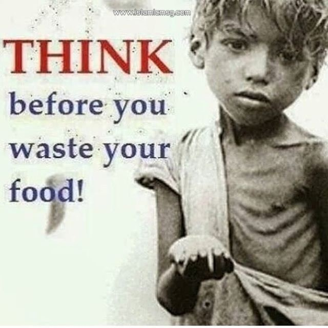 think before waste food