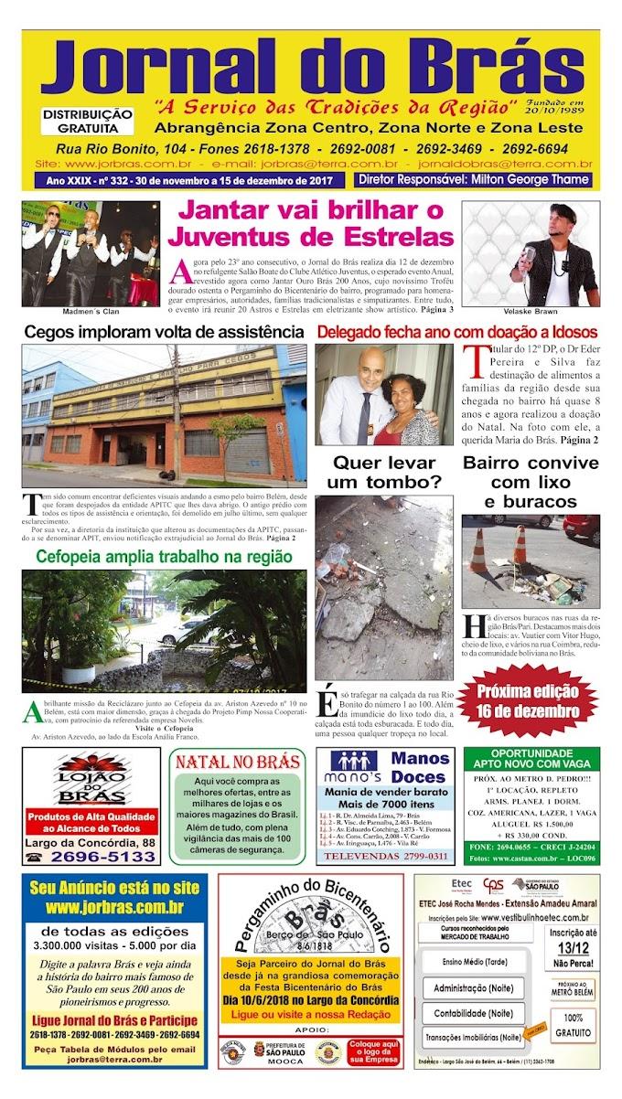 Destaques da Ed. 332 - Jornal do Brás