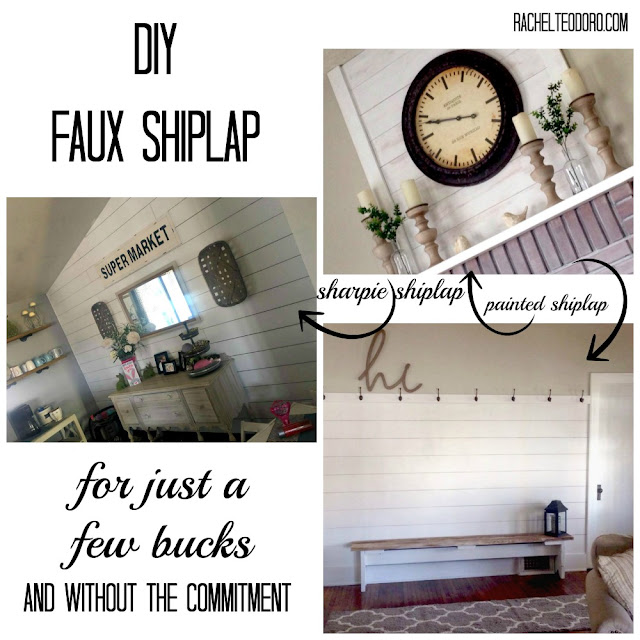 fixer upper, shiplap, DIY, faux shiplap, chip and joanna gaines, cheap shiplap