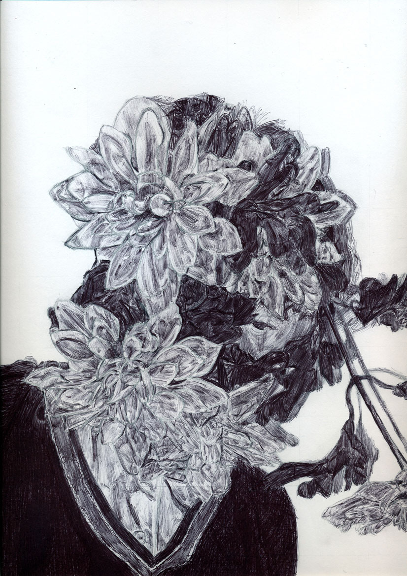 Henrietta Barnett School Art Department  Year 10  U0026 39 In Disguise U0026 39  Biro Drawings