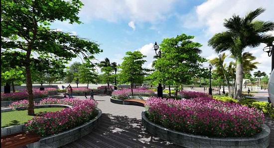 Khuôn viên xanh dự án Rose Town