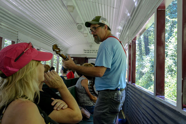 Banjo picking on the Great Smoky Mountain Railroad