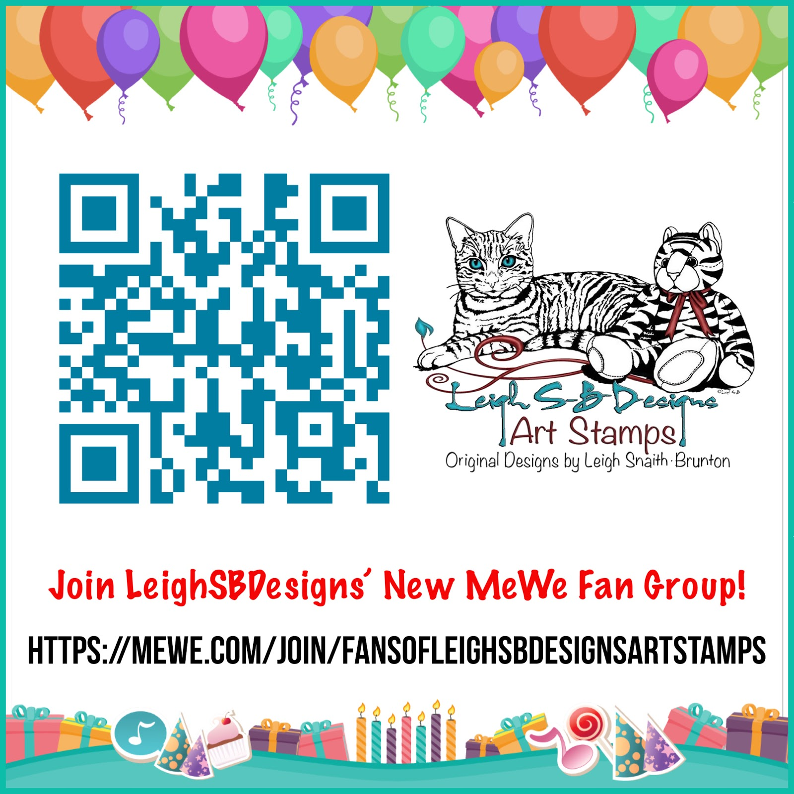 Join LeighSBDesigns' New MeWe Fan Group!
