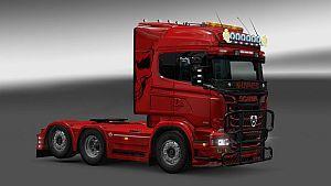 Red Skull paint job for Scania RJL