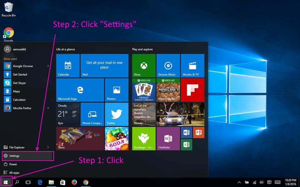 codingtrabla Windows 10 set default browser in system