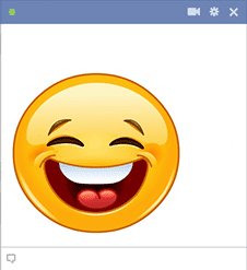 Big smile Facebook smiley