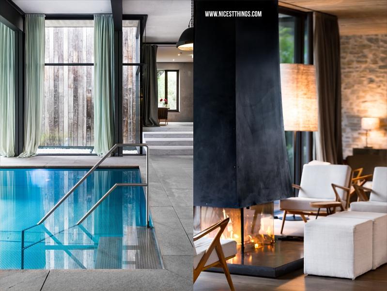 Wiesergut Luxushotel Pool und Kamin