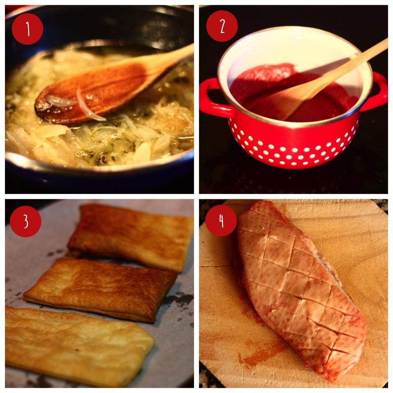 Magret de pato con salsa de frambuesa paso a paso