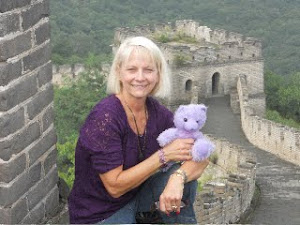 Purple Annie and Me at the Great Wall of China! Amazing trip.