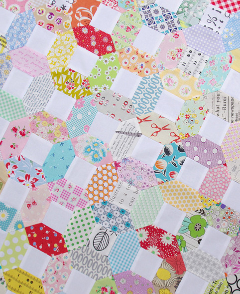 Kansas Dugout Quilt Top and tutorial with free templates