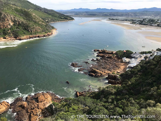 Panoramic view of the Knysna Lagoon in South Africa.